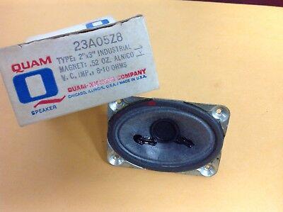 Vintage Quam Original Part 23a05z8 8-10 Ohms 2 X 3 Speaker New Old Stock