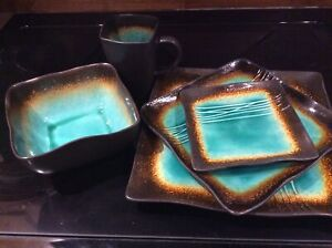Set of 8 piece place setting dishes
