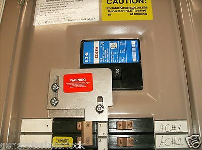 Generator Interlock Kit Cutler Hammer 150 200 Amp Ch Series Listed Eat-ch200a