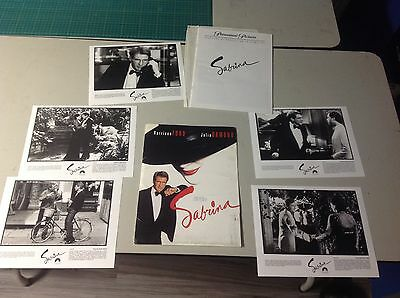 OOP! Movie Press Kit SABRINA  Film 8x10. photos mini poster HARRISON FORD nice