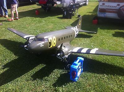 1/12 Scale Douglas DC-3 scratch build R/c Plane Plans 95.5 in. wingspan