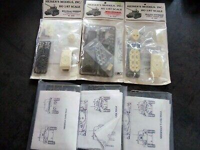 HO 1/87 HEISER'S MODELS INC SHERMAN TANK LOT-M4A3-M4A1 x 3-M4A3E2-M4 105 MM