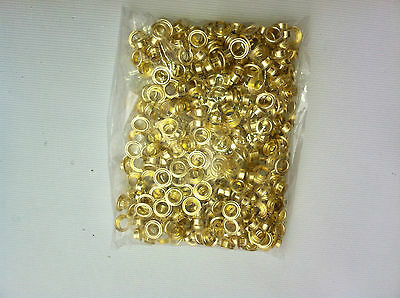 1000 Grommets Brass Metal 4 12 Eyelet With Washers For Hand Press