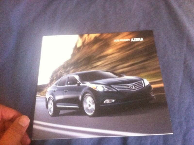 2012 Hyundai Azera USA Market Color Brochure Catalog Prospekt