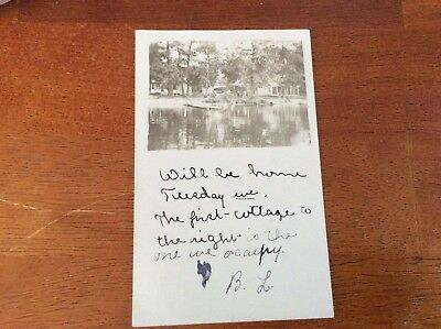 RPPC Ray, Indiana. Lake Cottages and Lake View. or Michigan