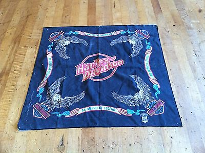 "Vintage HARLEY DAVIDSON ""AN AMERICAN LEGEND"" Bandana Made in USA 50/50"