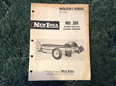 985196 - A New Original Operators Manual For A New Idea No.201 Manure Spreader