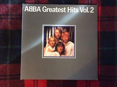 ABBA~Greatest Hits Vol 2~Dancing Queen~1979 Rock Vinyl LP Record~w/Plastic Cover