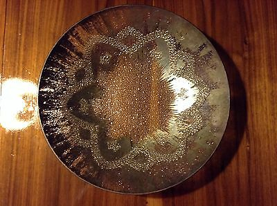 DOROTHY THORPE RARE LARGE STARBURST GLASS BOWL