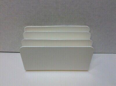 Tru Red 3-slot Plastic Incline Sorter White Tr55334 Free Shipping