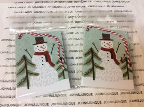 HOLIDAY GIFT TAGS AND TIES New in sealed package 5 TAGS Snowman 2 PKGS