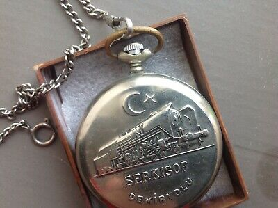 Molinija serkisof pocket watch, vintage export to Turkey, made in Ussr