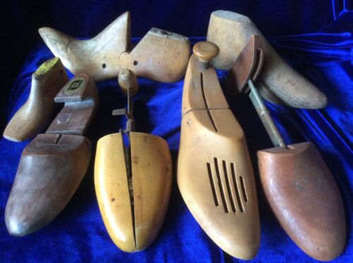 Antique Lot 7 Wood Shoe Forms Molds Lasts Shoemaker Cobbler Vintage
