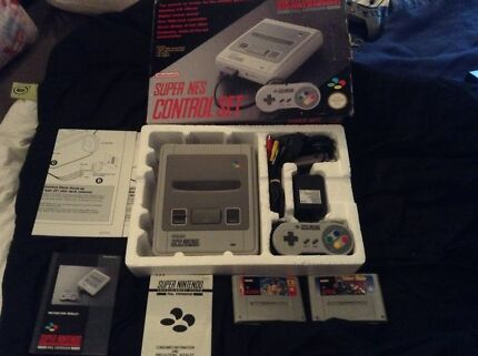 Boxed Super Nintendo & Games Surrey Downs Tea Tree Gully Area Preview
