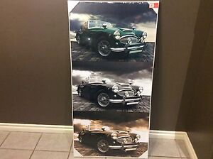 Canvas-texture car wall prints
