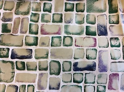 Decorator Fabric By Color - MULTI-COLORED BRICK DECORATOR FABRIC BY CHRIS STONE -56 INCH WIDE-1 7/8 YARDS