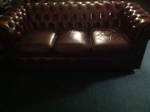 Leather Chesterfield couches Brisbane City Brisbane North West Preview