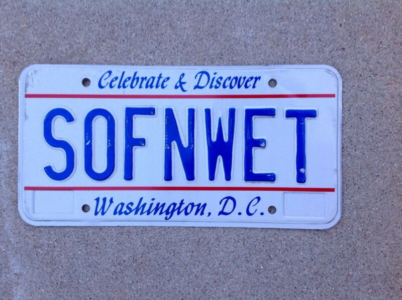 WASHINGTON D.C. - VANITY - LICENSE PLATE - DISTRICT OF COLUMBIA