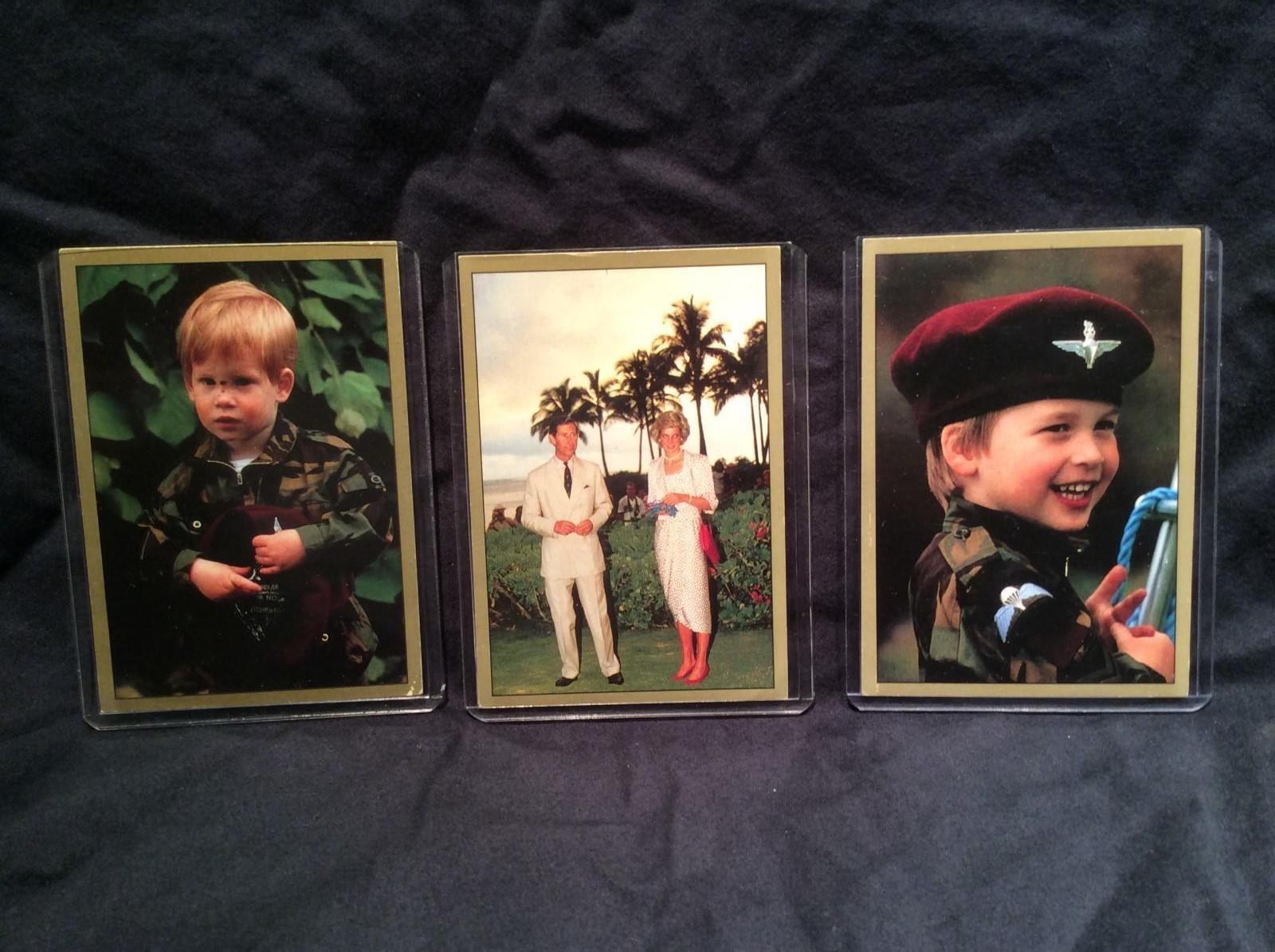 Royal Wedding Prince Harry 1988 Royal Family Panini Sticker Cards #33~34~36