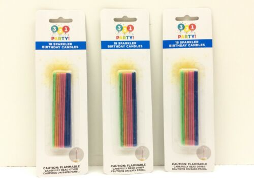 321 Party! 18 Sparkling Birthday Candles 3 Pack
