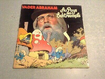 Disque vinyle 33 tours (b) vader abraham, au pays des schtroumpfs,disque bleu