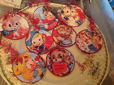 Bethany Lowe Retro Valentines Disc Ornaments