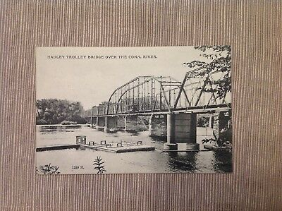 Vintage Postcard Hadley Trolley Over the Connecticut River Posted (The Connecticut Post)