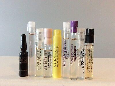 Lot Of 9 Designer perfume samples Vera Bradley,Versace,Burberry,Karan,YSL,Hardy,