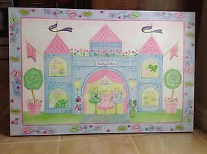 Large Princess picture on wooden frame.