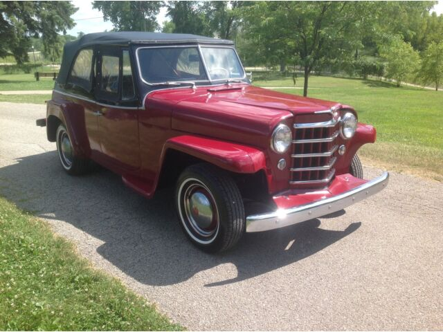 Willys Jeepster Rare Overdrive Hurricane 6 Cyl Sharp