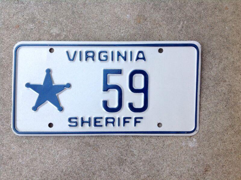"VIRGINIA - ""SHERIFF"" - LICENSE PLATE"