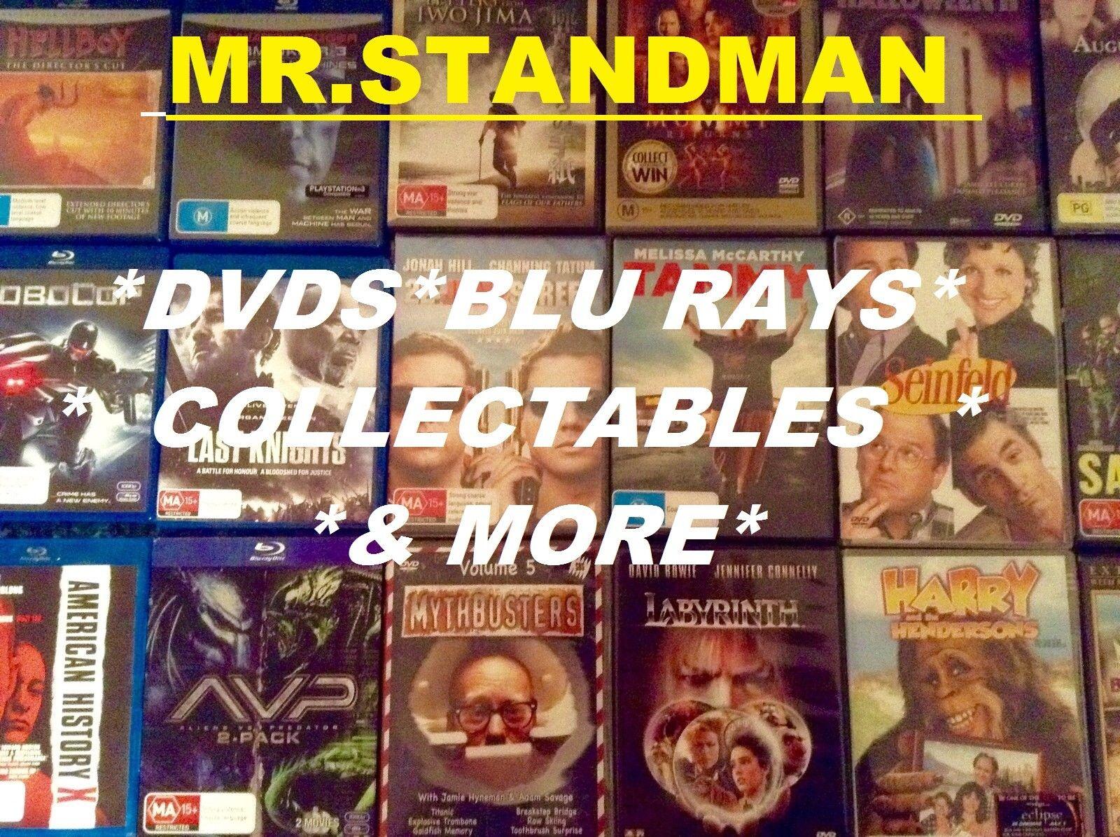 MR. STANDMAN dvd's & action figures
