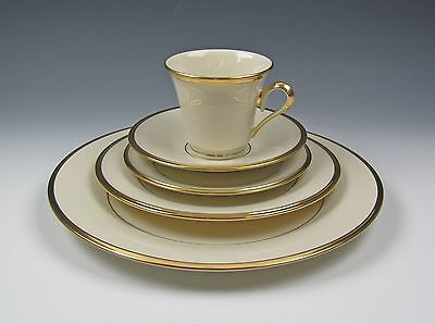 Lenox China ETERNAL 5pc Place Setting(s) Excellent