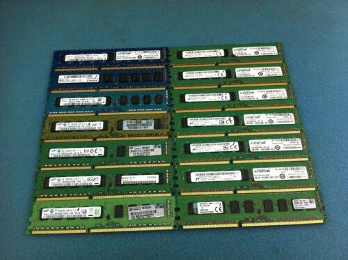 (Lot of 14) 4GB PC3/PC3L Mixed Speed DDR3 ECC Server Memory RAM - R313