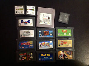 Game boy advance and wii and couple ds games