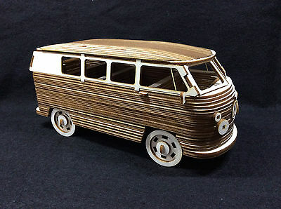 Laser Cut Wooden VW Camper 3D Model/Puzzle Kit
