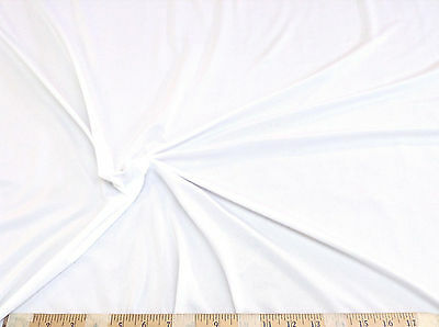 Discount-Fabric-Light-Weight-Lycra-Spandex-4-way-stretch-White-LY785