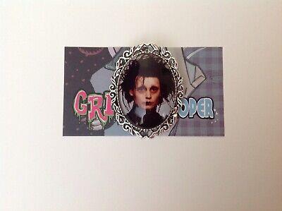Girl Edward Scissorhands (Edward Scissorhands brooch pin up clip rockabilly girl retro vintage Tim)