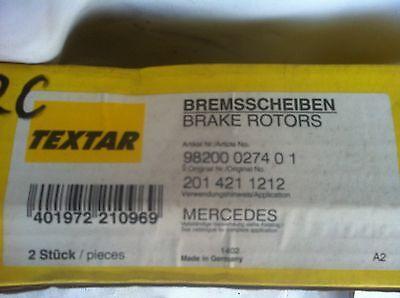 14/  Mercedes Benz  190 E  W201 vorne Bremsscheiben/ NEU NOS