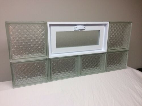 32 x 14 Vented Glass Block Window DM Pattern from Seves