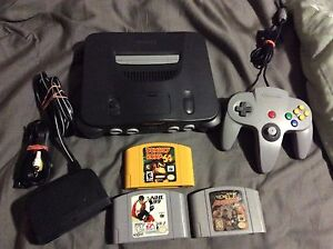 N64 with Ex Pak and Games