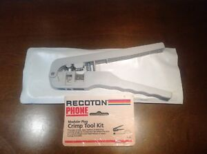 RECOTON PHONE CRIMPING TOOL for MODULAR PLUG T-45