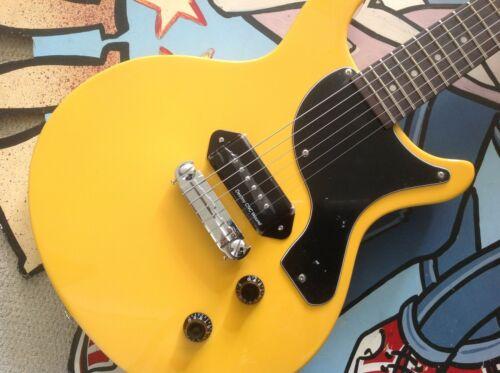 ANTORIA Guitar New Yorker Les Paul Junior Yellow & H/D Carry Bag +Free T/Shirt