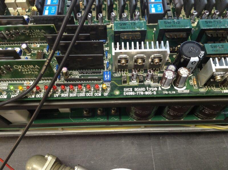 Okuma E4809-770-065-a -b -c -d Blii-d75d50 Svcii Board  Lb Series Lathe Repair