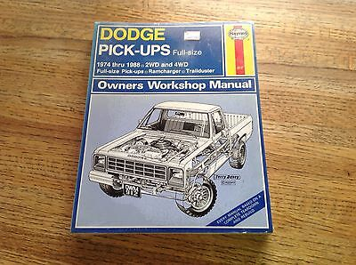 New Dodge Pick-Ups Full Size 1974 thru 1988 Owners Workshop Manual Haynes  #912