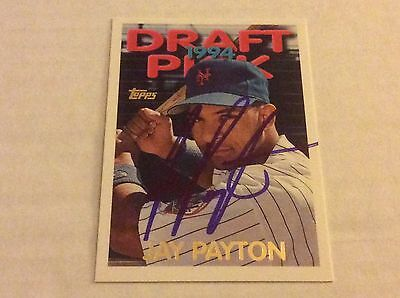 1995 Topps 443 Jay Payton Mets Autographed Auto Signed Card
