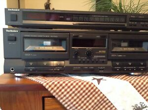 Vintage Technics Dual Cassette Deck and Tuner