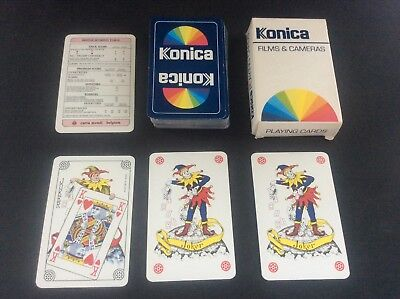 - Vintage Pack Playing Cards Advertising KONICA Photography Films & Cameras Jokers