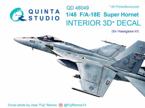 Quinta Studio QD48049 1/48 F/A-18E Super Hornet Interior Set w/free shipping
