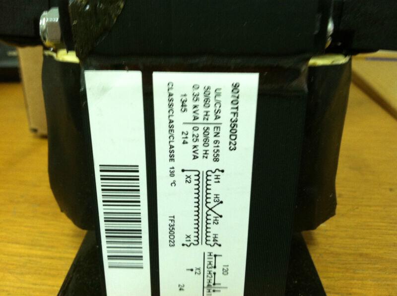 .35 KVA SINGLE PHASE TRANSFORMER 120/240PRIMARY 24V SECONDARY 9070TF350D23